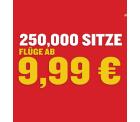 250.000 Tickets ab 9,99 € für für innereuropäische Flüge @Ryanair