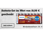 Batterie-Set (32 Philips AA Mignon) im Wert von 19,99 € GRATIS mit Gutscheincode ab 29 MBW @Conrad