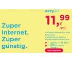 Eazy.de:  Eazy DSL Anschluss (Unitymedia) mit 20MBit/s für 11,99 Euro mtl. oder 50MBit/s 19,99 Euro