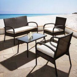 m max 25 rabatt auf gartenm bel durch gutscheincode u a 4 teilige loungegarnitur kara f r 74. Black Bedroom Furniture Sets. Home Design Ideas