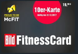 Shop.Bild.de: McFit 10er Karte ohne Studiobindung für 19,90 Euro