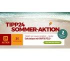 Tipp24 Sommer Aktion – Jeden Tag ein neuer Gutschein z.B. heute 2€ Rabatt