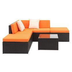 6-teiliges iKayaa Poly-Rattan Lounge-Set aus Deutschland für 195,81€ inkl. Versand [idealo 379,99€] @Lovdock
