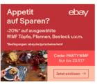 eBay: 20% Rabatt auf WMF Artikel bei Zahlung per Paypal ( 3 x einlösbar )