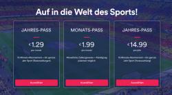 Jahres-Pass Eurosportplayer (für z.B. Bundesliga) für 24,99 € statt 49,99 €