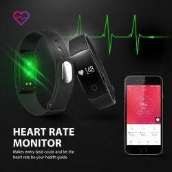 Mpow Android/iOS Bluetooth Smart Fitness Tracker mit Herzfrequenzmesser mit Gutscheincode für 9,10 € statt 25,99 € @Amazon