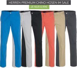 Outlet46: Chino-Premium MAK BD Herren Chino-Hosen für nur 0,99 Euro (19€ MBW) statt 27,99 Euro bei Idealo