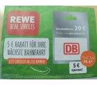 Lokal REWE: 29 Euro Bahn Geschenkkarte für 24 Euro ab 23. Oktober