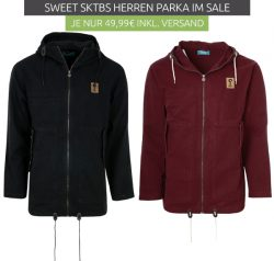 Outlet46: Sweet SKTBS Shoplifter Herren Parkas für nur je 49,99 Euro statt 62,99 Euro bei Idealo