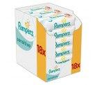 Pampers Sensitive Feuchttücher, 1008 Tücher, 18er Pack (18 x 56 Stück) 14,18€ statt 18,25€ (-36%) bei Idealo
