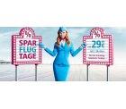 SPARFLUGTAGE günstige Tickets ab 9,99 € innerhalb Europas oder ab 199,99 € in die USA, Karibik oder Thailand @Eurowings