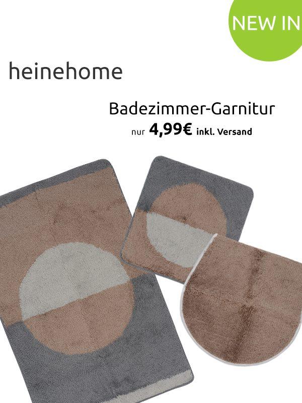 Outlet46: Verschiedene heine home Badezimmer-Garnituren für nur je 4 ...