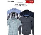 Outlet46: Viele GLO-STORY Lang- und Kurzarm Hemden für nur je 13,99 Euro statt 23,99 Euro bei Idealo ( auch Outlet46)