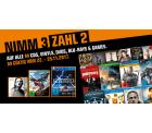 Saturn: Nimm 3, zahl 2 auf alle Games, Filme und Musik