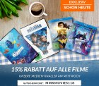 15% Rabatt auf alle gebrauchten Filme dank Gutscheincode ab 20€ MBW @reBuy