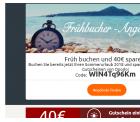 40€ Frühbucher Rabatt  auf deinen Sommerurlaub 2018 bei Opodo.de