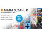Amazon und Saturn: 3 für 2 Aktion für Filme, Musik und Video Games
