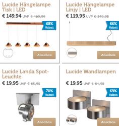 Lucide Lampen mit bis zu 70% Rabatt im Flash Sale @iBOOD z.B. Lucide Bok Wandlampe für 25,90 € (64,95 € Idealo)