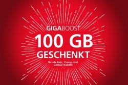 Vodafone – GigaBoost 100 GB Extra-Datenvolumen für Neu- und Bestandskunden