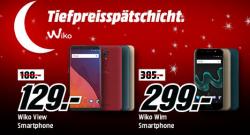 Wiko Smartphones in der Tiefpreisspätschicht @Media-Markt z.B. WIKO View 5,7 Zoll 32GB Android 7.1 Dual SIM für 129 € (180,99 € Idealo)