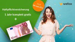 1 Jahr One-Haftpflichtversicherung komplett gratis + 10€ Barauszahlung @remind.me