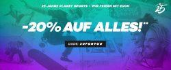 Planet Sports: 20% Rabatt auf alle reduzierten Artikel im Sale