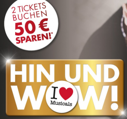 Stage Entertainment: 50 Euro Rabatt auf 2 Musical Tickets