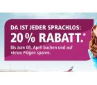 Eurowings: 20% Rabatt auf nationale und internationale Flüge