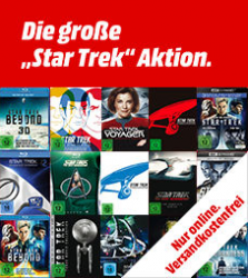 Mediamarkt: Die große Star Trek Aktion z.B. Star Trek Three Movie Collection – Steelbook Blu-ray für nur 20 Euro statt 35,99 Euro bei Idealo