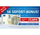 Pollin – Nur heute und morgen: 5 Euro Sofort-Bonus