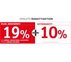 XXXLutz: 19% Mehrwertsteuer geschenkt + 10% Extrarabatt auf über 12.000 Aktionsprodukte und 25 Euro Rabatt mit Gutschein ab 100 Euro MBW