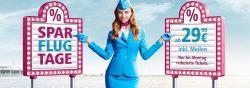 Eurowings – Sparflugtage mit reduzierten Tickets ab 29,99€ zu beliebten Zielen Europas