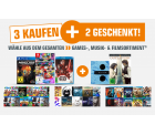 Saturn – 3 Games, Filme oder Musik kaufen und 2 gratis dazu bekommen