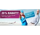 20% Rabatt auf Flüge (Weltweit ausser USA) @Eurowings