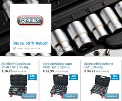 Connex Handwerkzeuge Flash-Sale @iBOOD z.B. Steckschlüsselsatz 26-tlg. für 40,90 € (52,48 € Idealo)