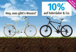 Garten XXL – 10% Rabatt auf Fahrräder, E-Bikes & Co. durch Gutscheincode (kein MBW)