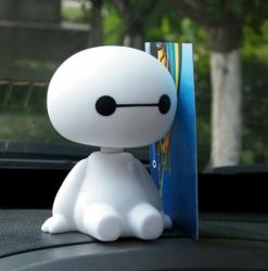 Niedlicher Baymax Roboter, Kopf-Puppe für Auto / Haus / Büro für nur 0,68€ @tomtop
