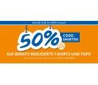 (Online & Offline) Takko – 50 % Extra Rabatt auf bereits reduzierte T-Shirts und Tops