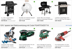 Ebay: 10% Rabatt auf die Kategorien Heimwerker, Garten und Terrasse mit Gutschein ohne MBW