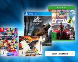 Nur heute 15% Rabatt auf alle PS4, XBox One, Switch und 3DS Games mit Gutscheincode @Müller
