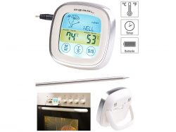 Pearl – Rosenstein & Söhne Digitales Braten- & Ofenthermometer mit Touch-Display gratis statt 19,90€ (nur Versandkosten bezahlen)