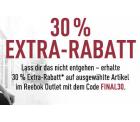 Reebok: 30% Extrarabatt auf ausgewählte Artikel im Outlet mit Gutschein ohne MBW