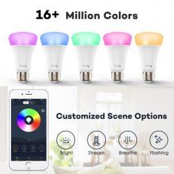 Amazon: Haofy RGB WiFi Smart LED Lampe für iOS und Android mit Alexa Sprechsteuerung mit Gutschein für nur 5,99 Euro statt 11,99 Euro