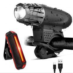 Amazon: USB wiederaufladbares LED-Fahrrad-Licht-Kit mit Gutschein für nur 10,99 Euro statt 21,99 Euro