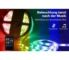 Amazon: 2 mal 5 Meter LED RGB Stripes mit Musiksteuerung mit Gutschein für nur 25,99 Euro statt 35,99 Euro