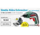 Conrad: Bosch Akku-Schrauber inkl. Gartenaufsatz im Wert von 49,99 Euro gratis mit Gutschein ab 149 Euro MBW