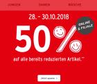 Ernstings family: Für nur 3 Tage 50% Extrarabatt auf alle bereits reduzierten Artikel Online und Filiale