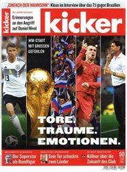 KioskPresse – 3 Monate Kicker Zeitschrift   für 57,72€ + 57,72€ Verrechnungsscheck