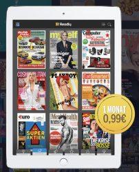 @readly: über 3000 Magazine online lesen Werbung: 1. Monat 0,99€ dann 9,99€/Monat (monatlich kündbar)