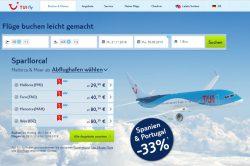 33.333 Sale-Tickets von TUIFLY mit 33% Rabatt z.b. Flug nach Mallorca ab 29,99€